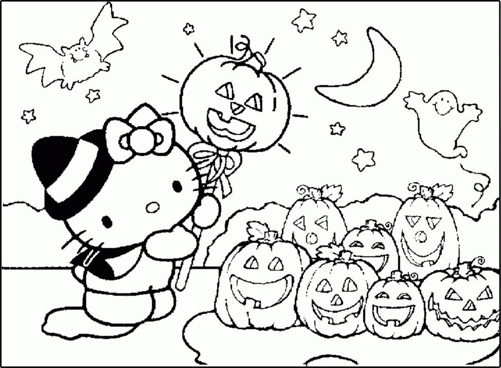 975x716 Hello Kitty Coloring Page Halloween Hello Kitty