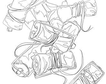 340x270 Roller Illustration Etsy