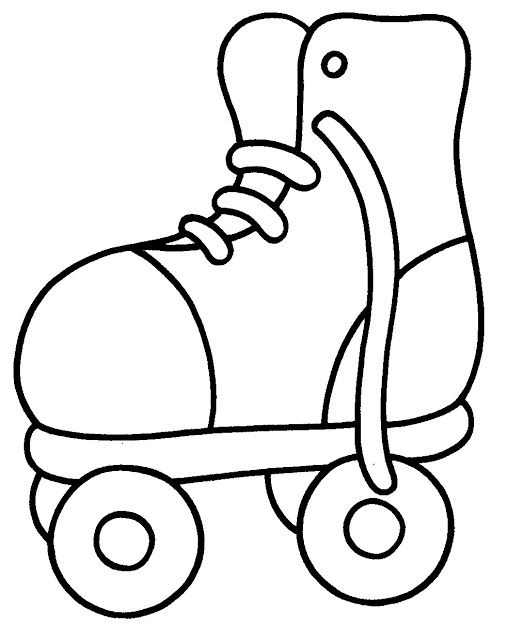 507x640 At Roller Skate Coloring Page