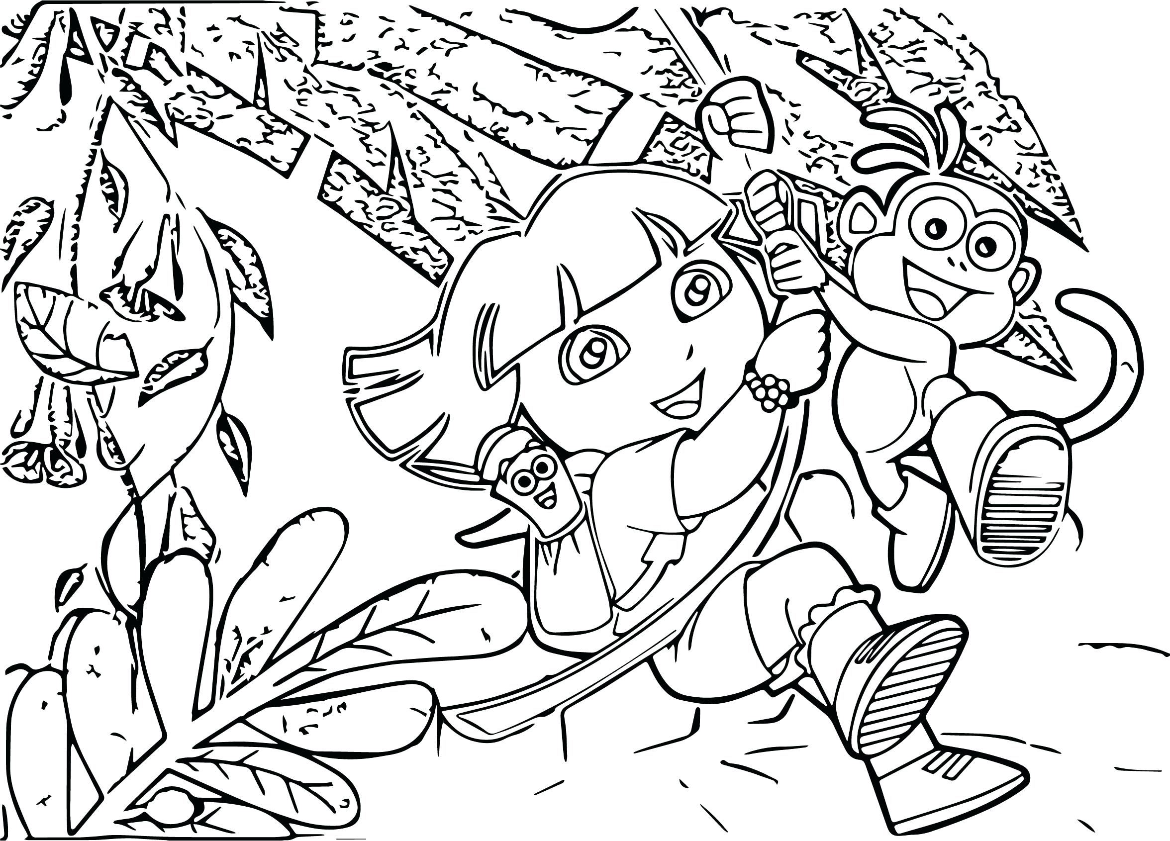 2352x1691 Coloring Pages Thanksgiving Free Wallpaper Cartoons The Dora