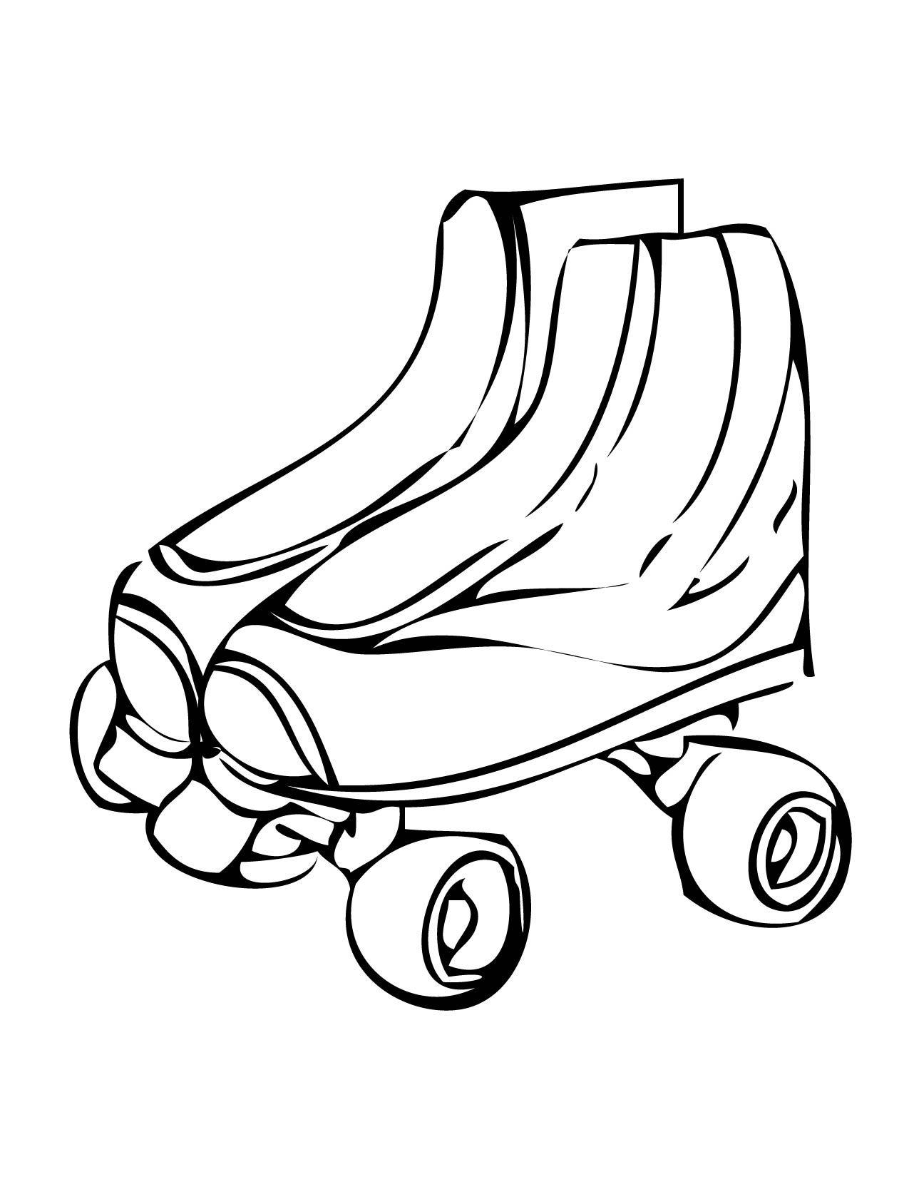 1275x1650 Roller Skates Ink For Roller Skate Coloring Page