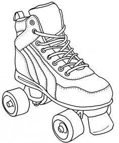 236x283 Roller Skate Coloring Page Roller Skating, Worksheets