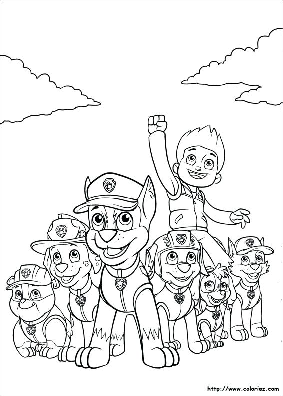 567x794 Coloring Page Paw Patrol Zuma His Hovercraft And Badge Rocky