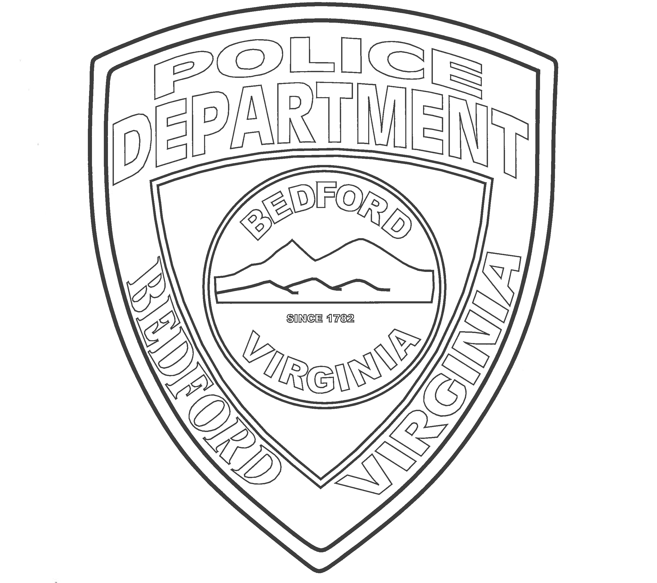 2550x2262 Police Officer Coloring Page