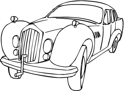 480x354 Rolls Royce Coloring Page