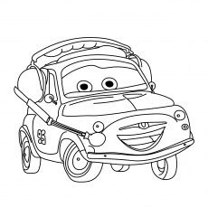 230x230 Top Free Printable Colorful Cars Coloring Pages Online
