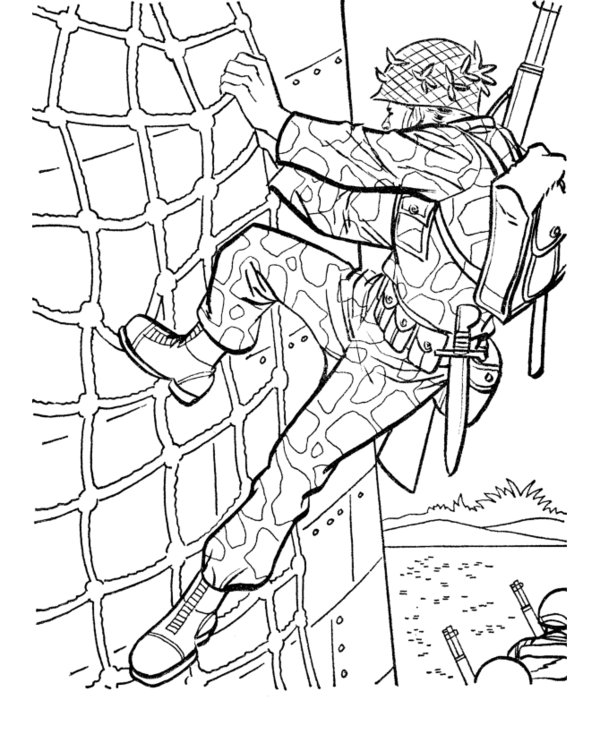 600x734 Army Man Coloring Pages