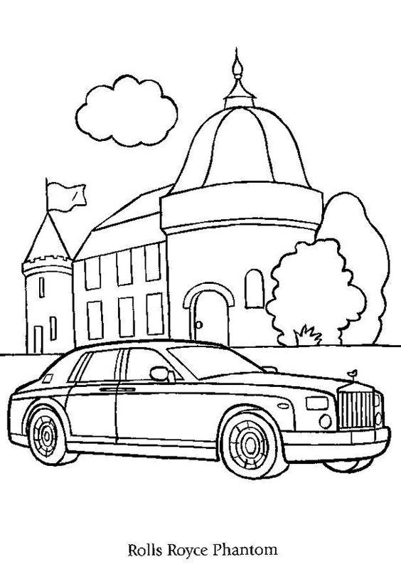 564x797 A Colorier De Diverses Couleurs, Une Rolls Royce Phantom