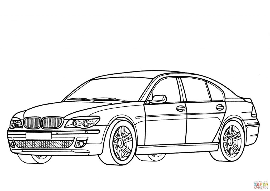 1024x724 Bmw Series Car Coloring Page