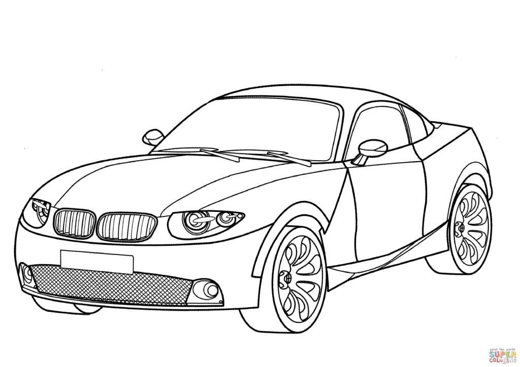 1024x724 Bmw X Car Coupe Coloring Page