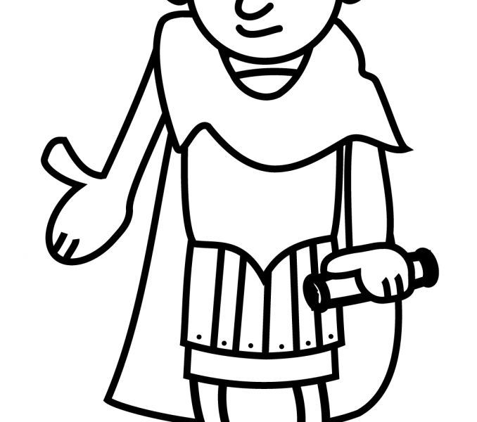 678x600 Ancient Rome Coloring Pages