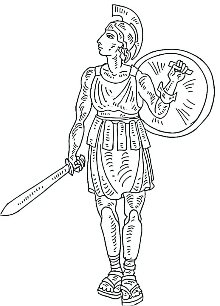 738x1024 Roman Coloring Pages Gladiator Ancient Coloring Page Roman Empire