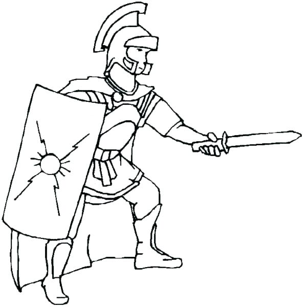 600x602 Rome Coloring Pages Roman Soldier Coloring Page Roman Empire