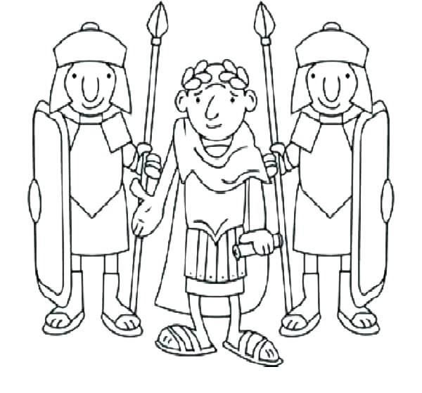 600x559 Ancient Rome Coloring Pages Roman Soldier Coloring Page Roman