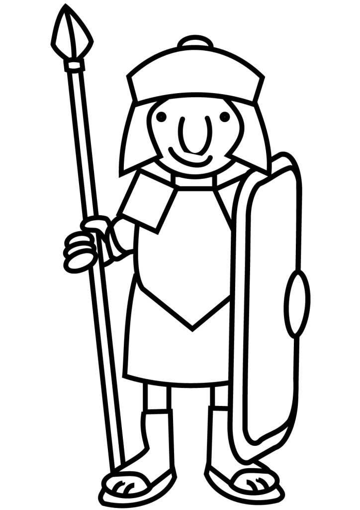 724x1024 Cartoon Roman Soldier Picture Coloring Pages
