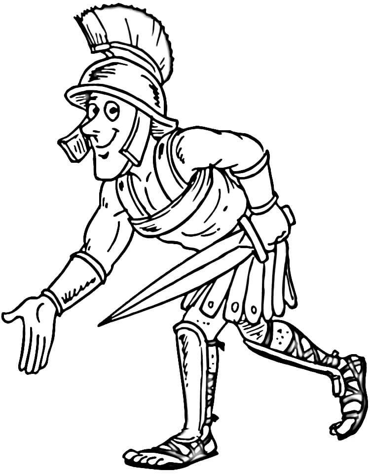 750x961 Gladiator Ancient Rome Coloring Page