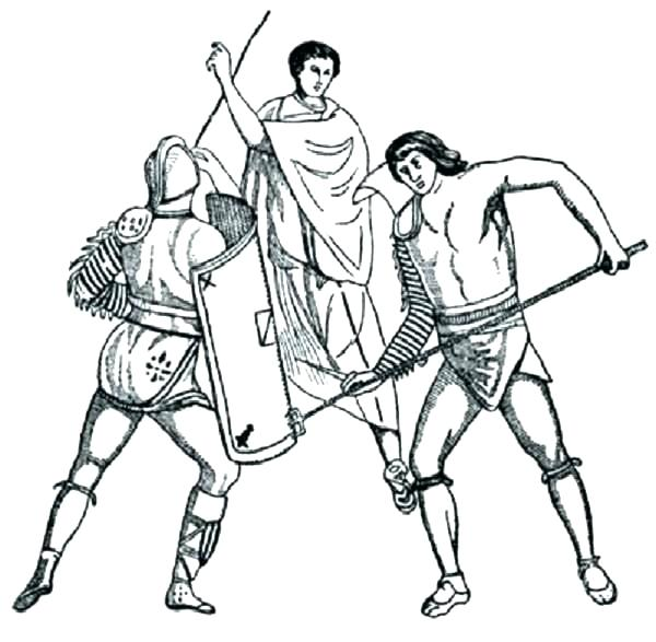 600x587 Ancient Rome Coloring Pages