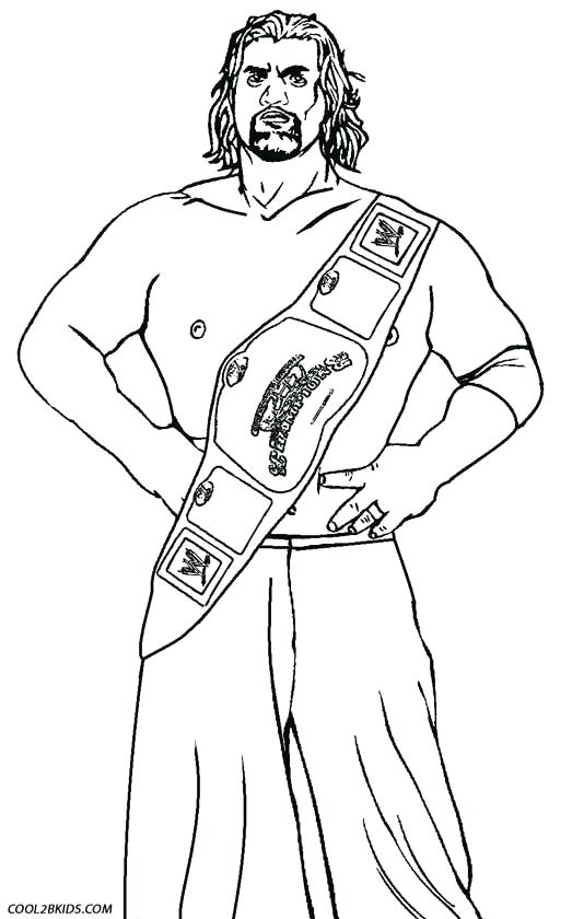 Roman Reigns Coloring Pages At Getdrawingscom Free For Personal