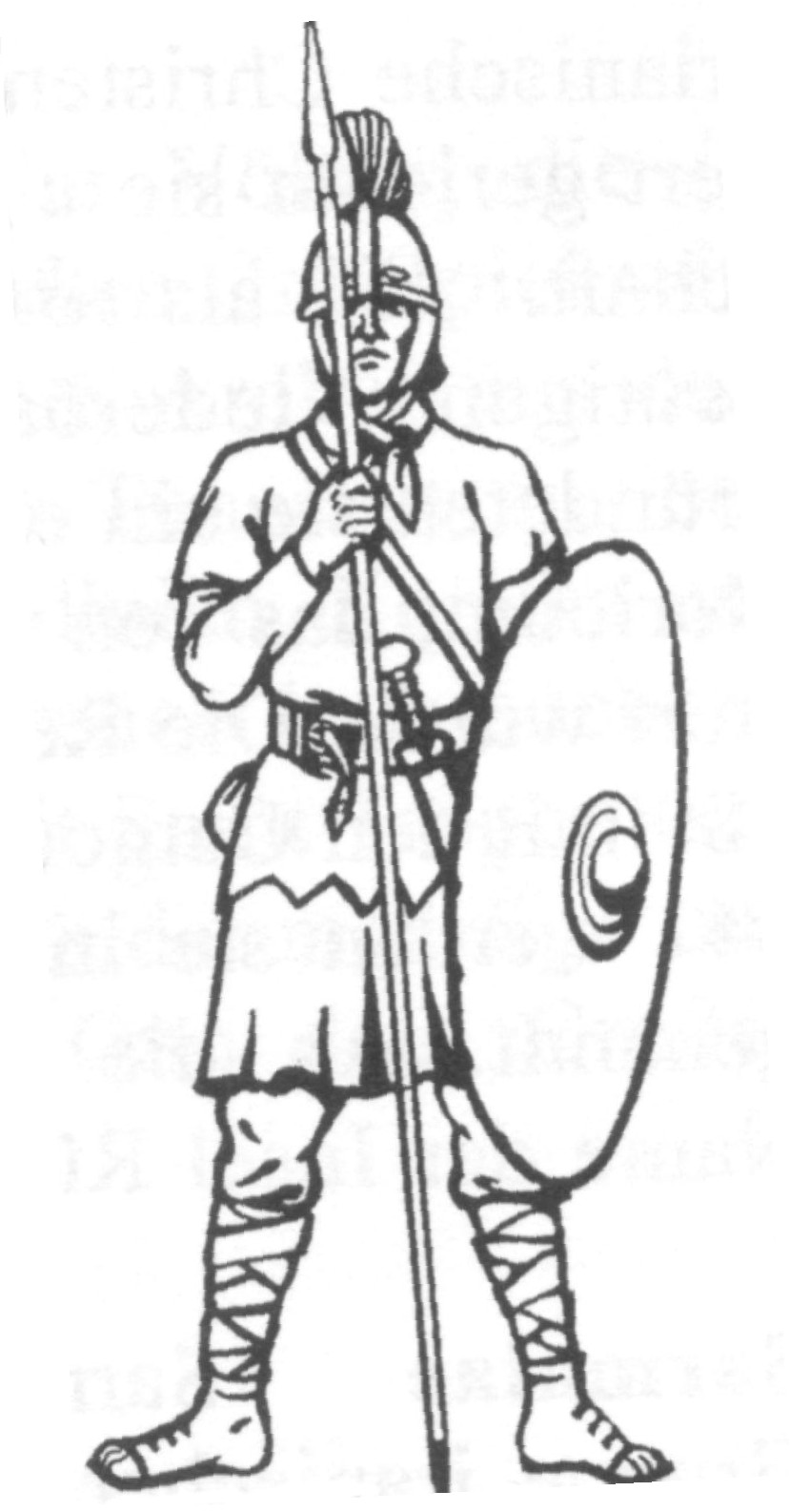 Roman Soldier Coloring Pages Free