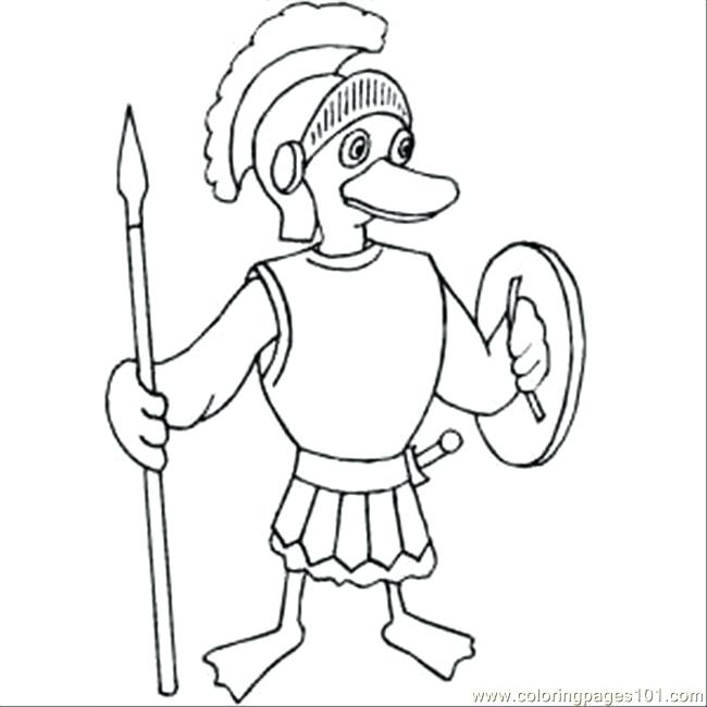 650x650 Soldier Coloring Page Roman Duckling Soldier Coloring Page Toy