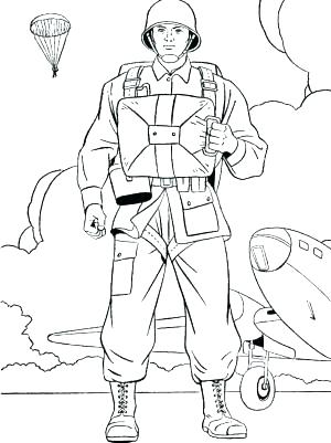 300x401 Soldier Coloring Page Soldier Coloring Page Click To See Printable