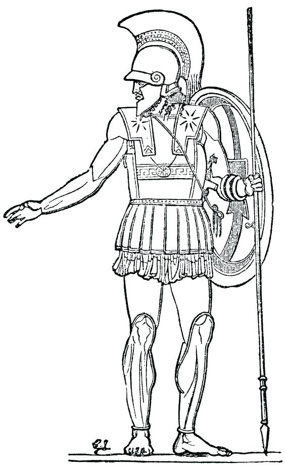 564x919 Ancient Coloring Pages Roman Soldier Coloring Page Roman Soldier