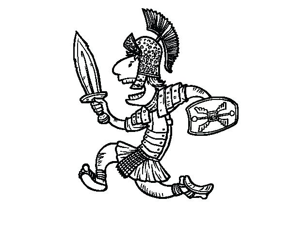 600x470 Soldier Coloring Pages Roman Soldier Attacking Coloring Page Roman