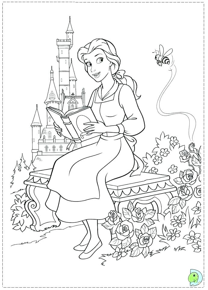 691x960 Beauty The Beast Coloring Book Belle Coloring Sheet Beauty