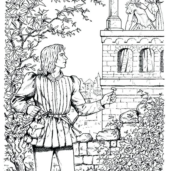 601x600 Romeo And Juliet Coloring Pages