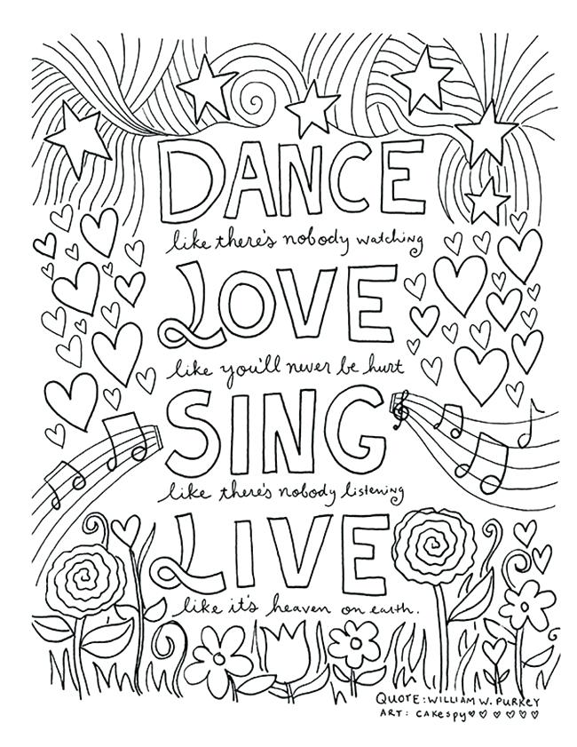 650x841 Inspiring Quote Coloring Pages For Adults Free Free Coloring Romeo