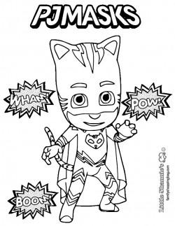 250x323 Pj Masks Coloring Pages Black And White New Romeo From Page