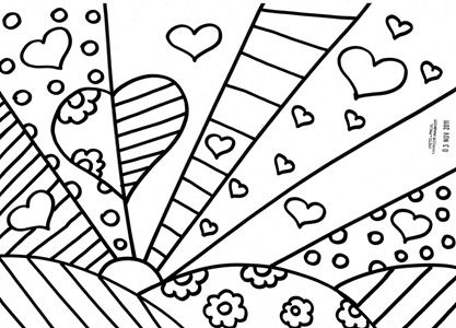 Romero Britto Coloring Pages