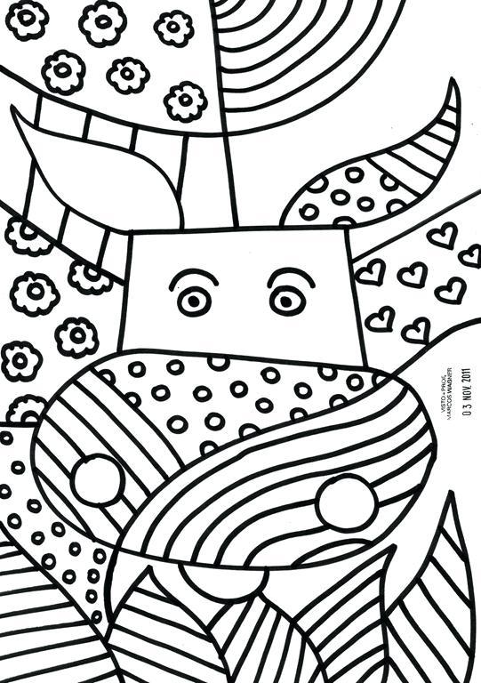 541x768 Romero Britto Coloring Pages