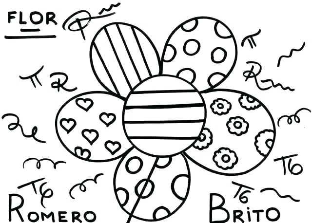 640x458 Romero Britto Coloring Pages Beautiful Romero Britto Coloring