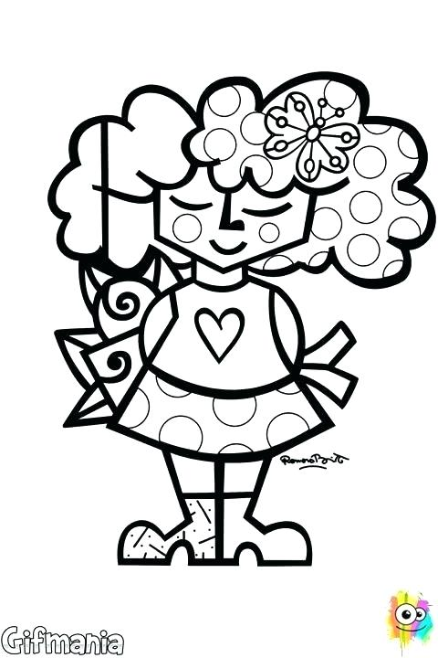 480x720 Romero Britto Colouring Sheet Coloring Pages Winsome Design Sheets