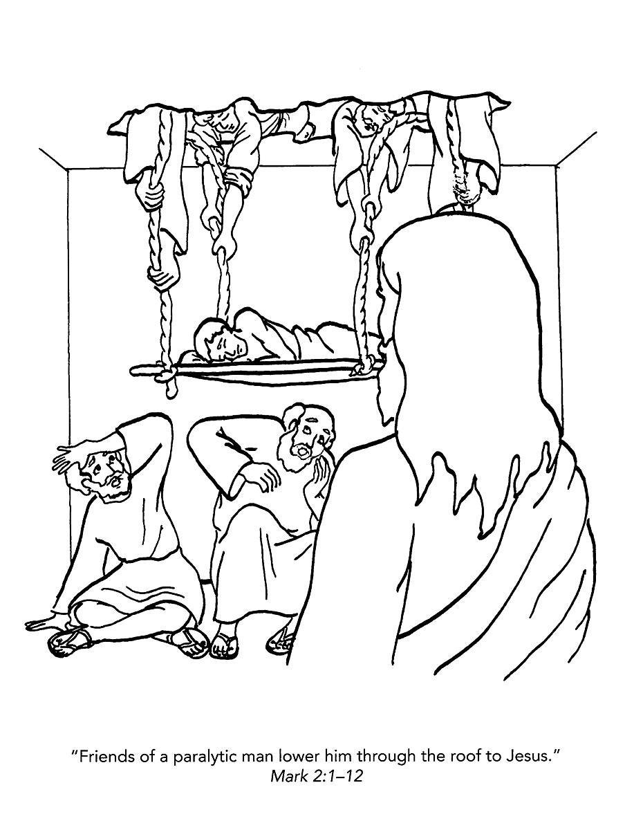 930x1200 Lame Man Healed Coloring Page