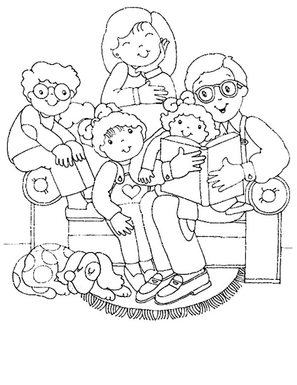 600x776 Joint Family Gather In Living Room Coloring Pages Batch Coloring