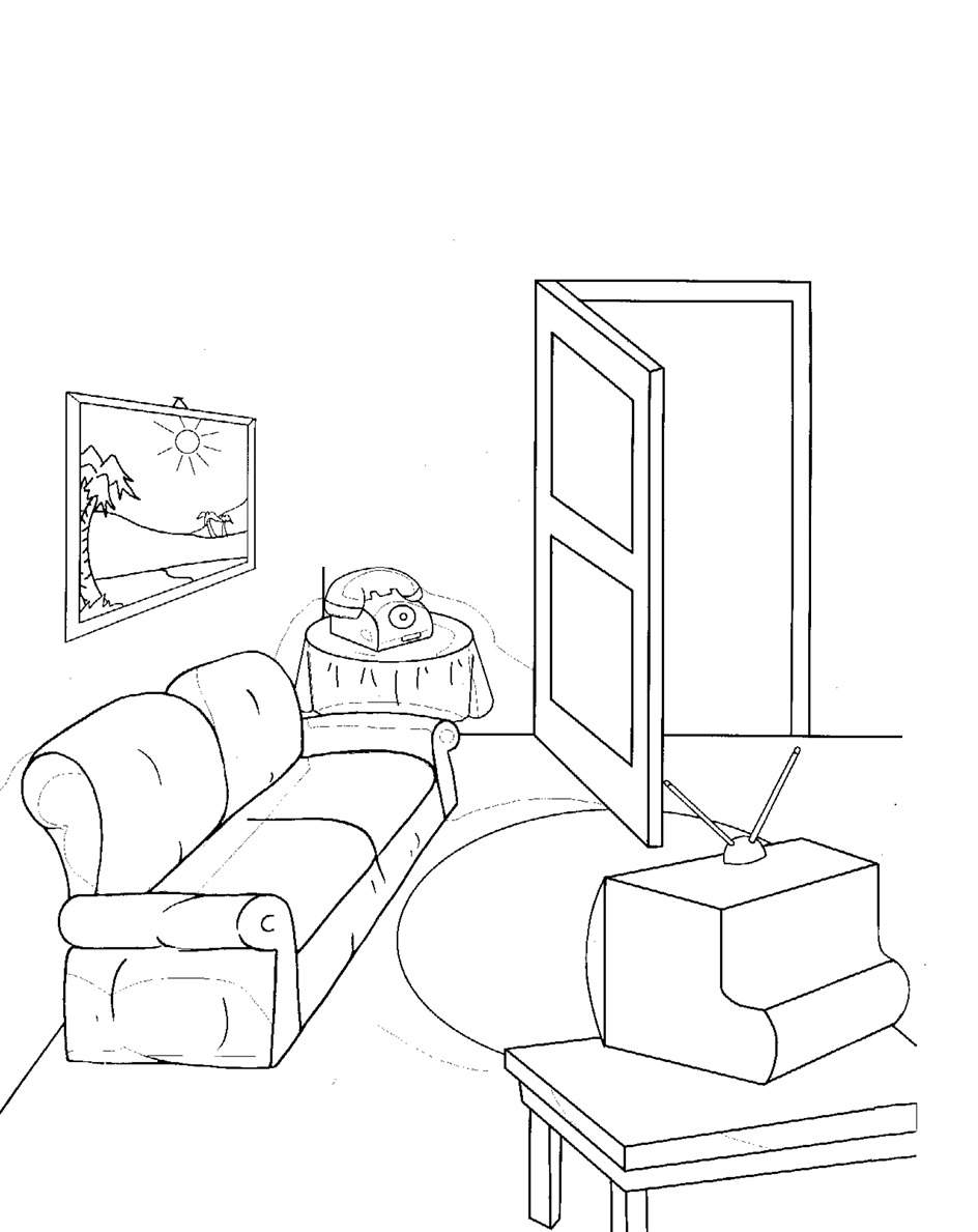 944x1189 Living Room Coloring Pages Free