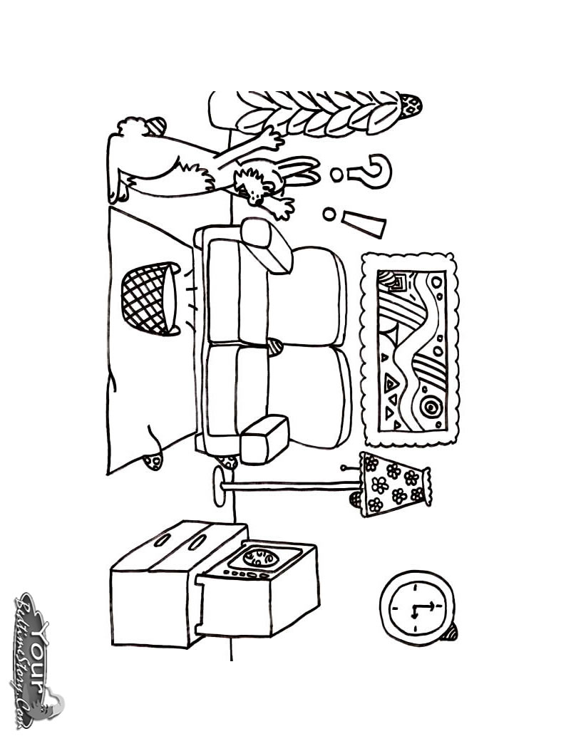 794x1054 Living Room Coloring Pages Download And Print For Free