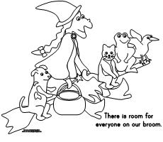 230x200 Making Learning Fun Room On The Broom Coloring Pages