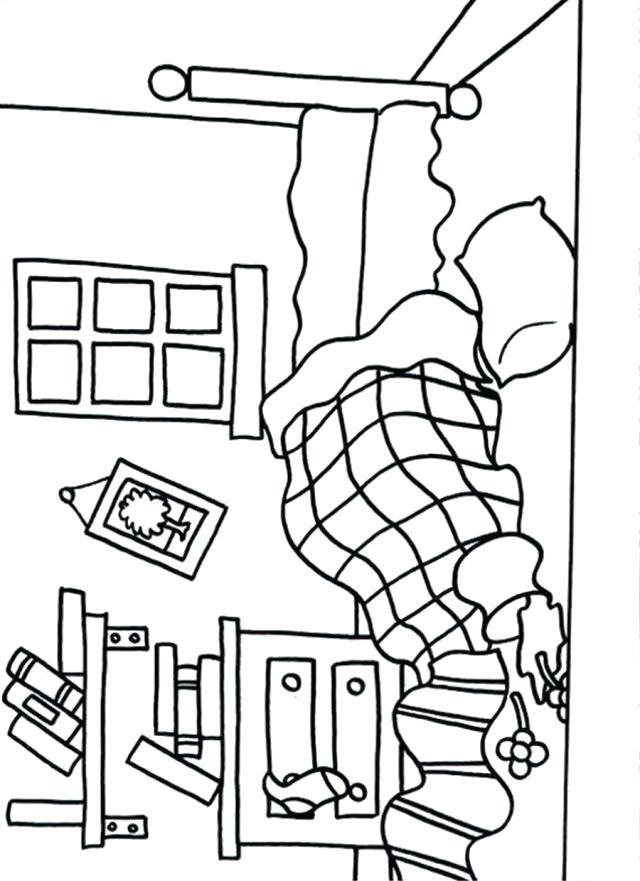 640x881 Messy Bedroom Coloring Pages