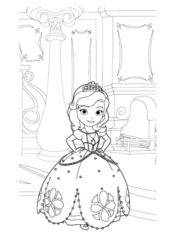 600x834 Sophia The First Coloring Pages Princess The First In Her Room