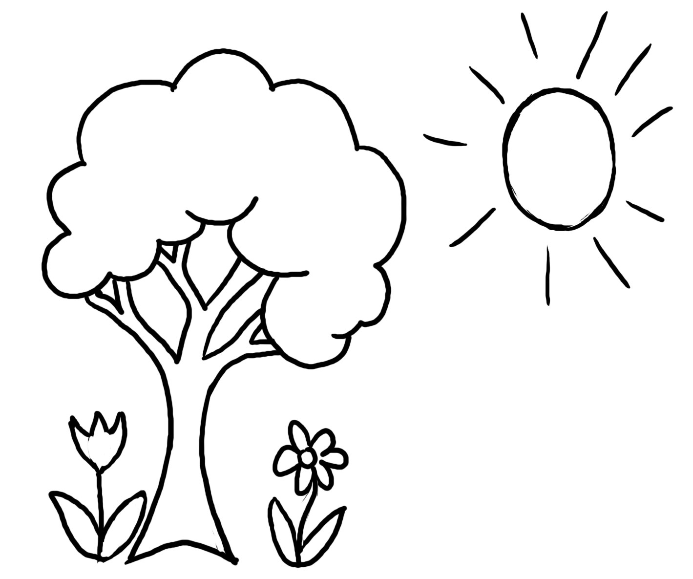1419x1185 Sensational Design Tree Coloring Page Pages For Adults With Roots