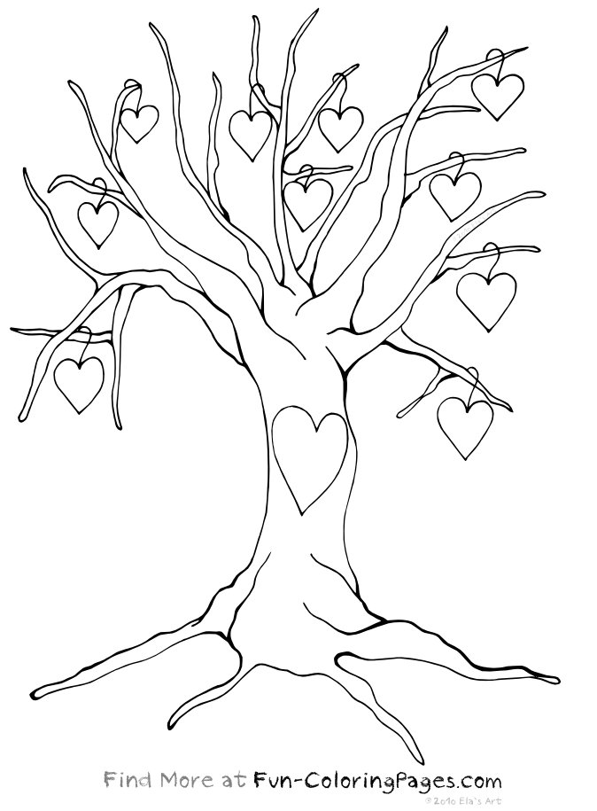674x915 Tree Coloring Pages With Roots