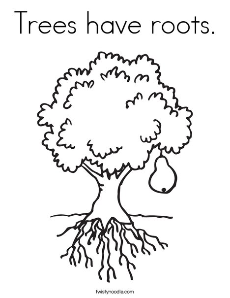 468x605 Trees Have Roots Coloring Page