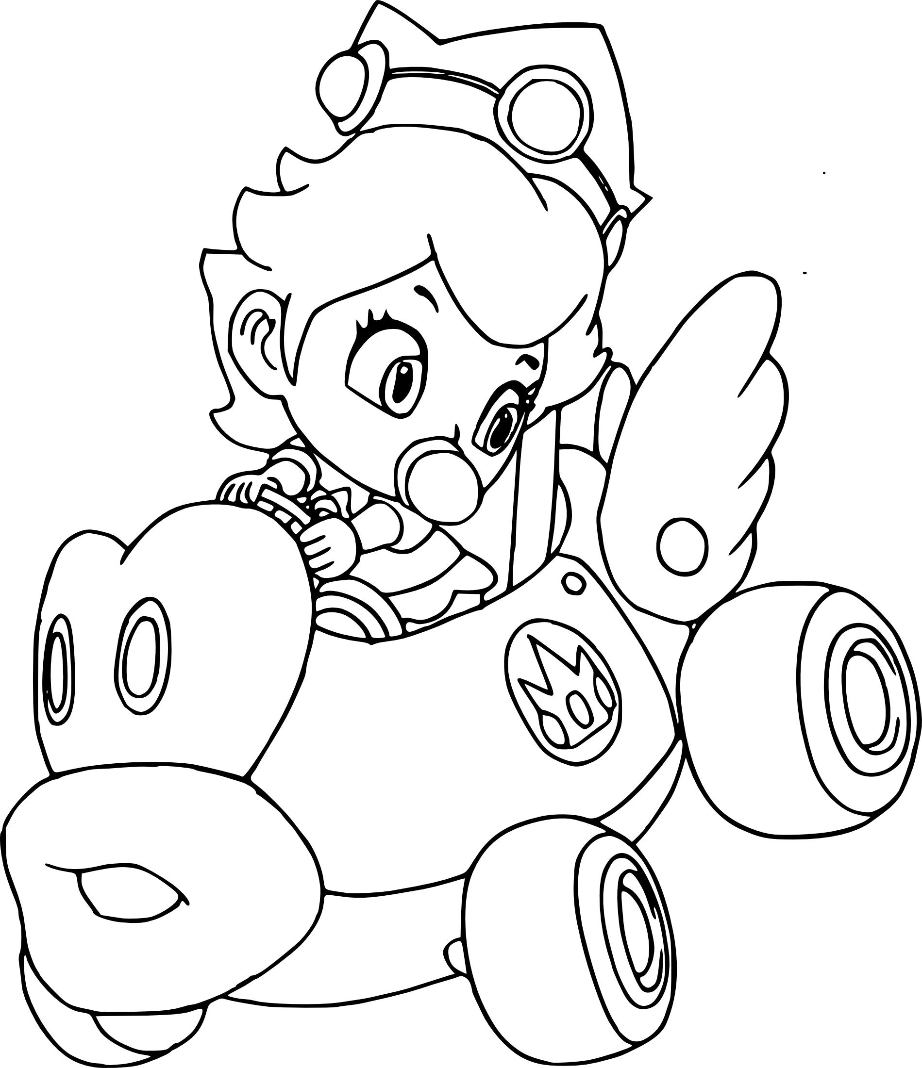 Rosalina Mario Coloring Pages At Getdrawings Free Download