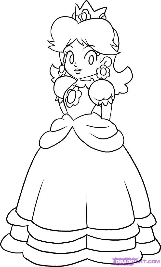 Rosalina Mario Coloring Pages At Getdrawings Com Free For Personal