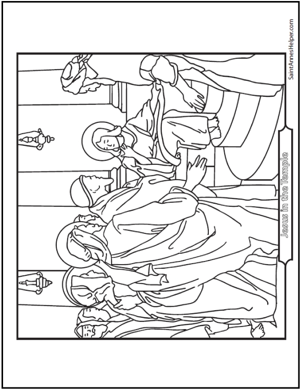 Rosary Coloring Page