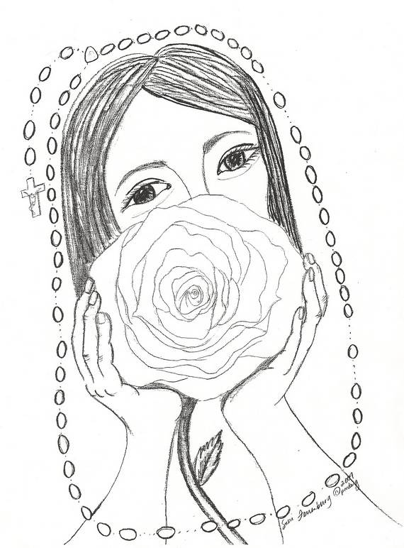 Rosary Coloring Page At Getdrawings Com Free For Personal Use
