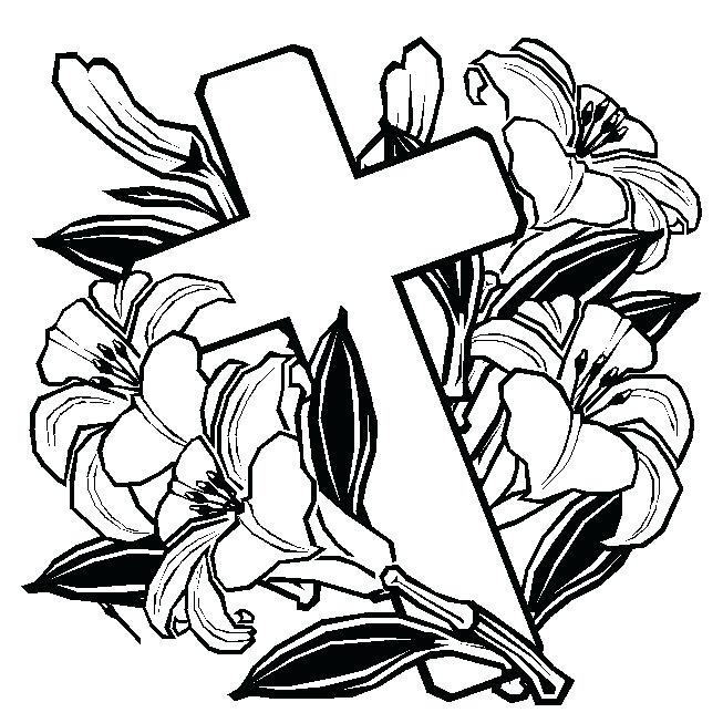 653x653 Coloring Pages Of Crosses With Roses Fresh Rose Colored Sheets